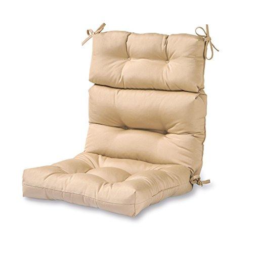 Greendale Home Fashions Outdoor High Back Chair Cushion, Stone