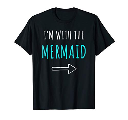 Funny Mermaid T-Shirt Halloween Parents or Couples