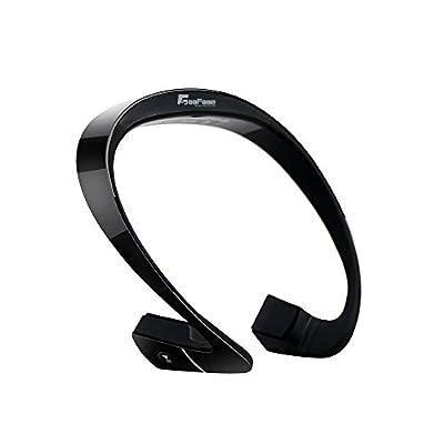 Coofone Bone Conduction Wireless Sports Bluetooth Stereo Headphone Stereo Headset Earphone for iPhone 7/6/6s Samsung Galaxy (Black)