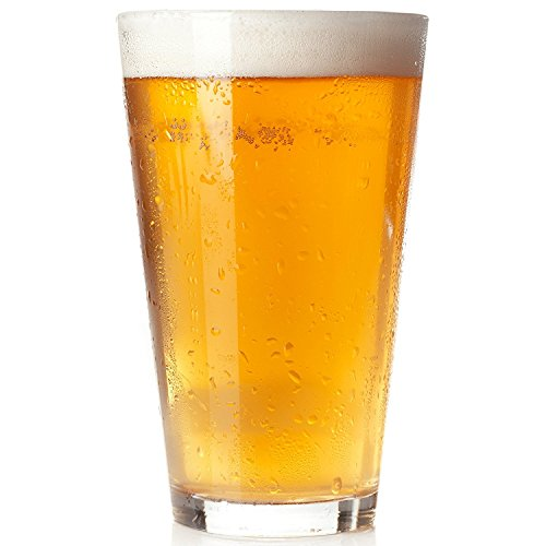 Royal Beer Glass Set - 12 Pack - Holds a full Bottle of Beer up to 16-ounces - Shatter-Resistant, Great for Pubs, Bars, Restaurants (12-Pack) (Bar Beer Glasses)