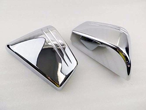 Motorcycle Chrome Plastic Left & Right Side Covers Battery Fairing Frame Cover For 2002-2008 Honda VTX 1800 C VTX1800C Custom 02-08 2003 2004 2005 2006 2007