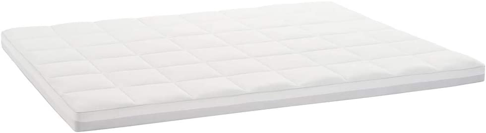 Claritin Ultimate Comfort 3 inch Memory Foam Mattress Topper with Quilted Cover to Protect Against Dust, Dander and Allergens King, White