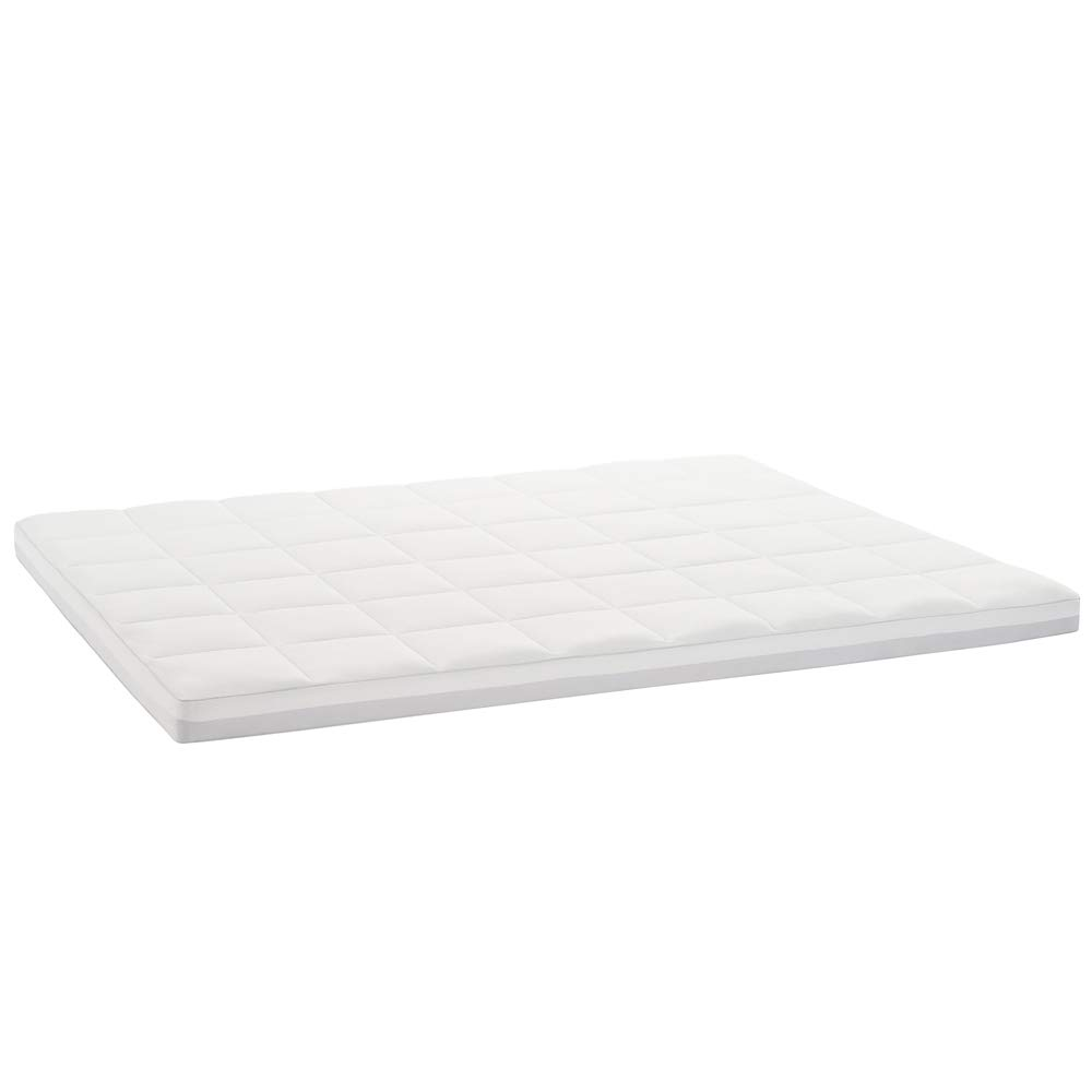 Claritin Ultimate Comfort 3 inch Memory Foam Mattress Topper with Quilted Cover to Protect Against Dust, Dander and Allergens Queen, White