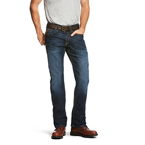 Ariat Men's M4 Rebar Low Rise Boot Cut Stretch Jean, Maritim