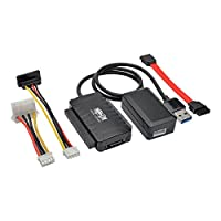 Tripp Lite USB 3.0 SuperSpeed to SATA / IDE Adapter w/ Built-In USB Cable 2.5in / 3.5in / 5.25in Hard Drives (U338-06N)