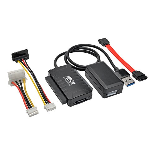 - Tripp Lite USB 3.0 SuperSpeed to SATA/IDE Adapter w/Built-in USB Cable 2.5in / 3.5in / 5.25in Hard Drives (U338-06N)