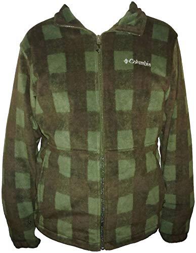 Columbia Men's Steens Mountain Full Zip 2.0 Soft Fleece Jacket (Olive/Black Plaid, Medium) Columbia Full Zip Fleece