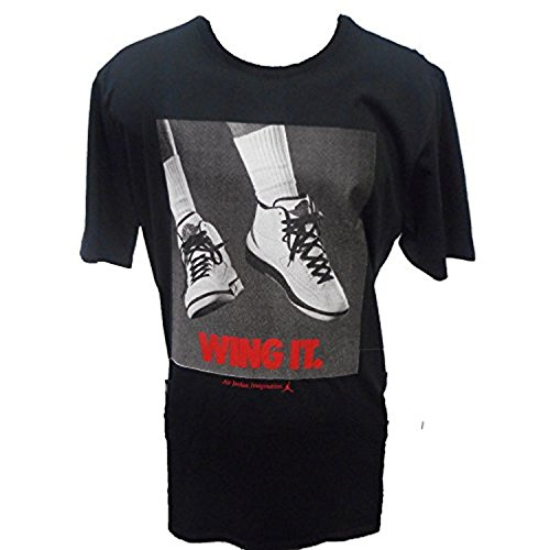 MEN'S AIR JORDAN RETRO 2 WING IT TEE-LARGE/BLACK