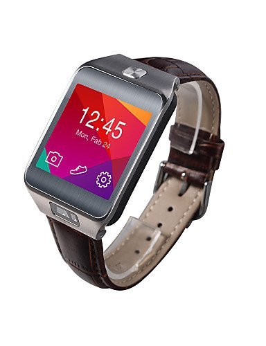 NO.1 G2 Bluetooth 4.0 Wearable Smartwatch, Infrared Remote Control/Heart Rate/Anti-lost for Android/iOS Smartphone , brown-ios by FMSBSC
