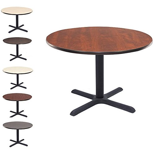 Cain 36'' Round Breakroom Table- Grey