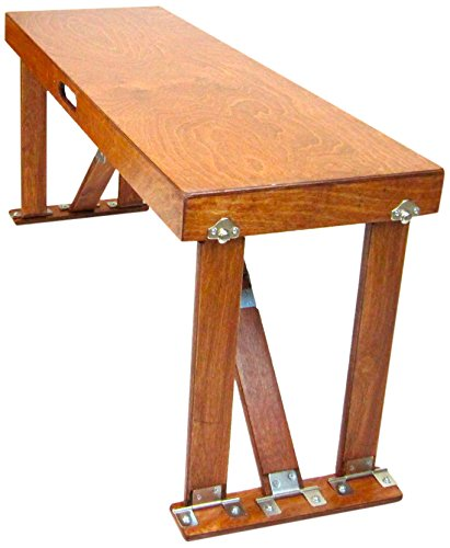 Spiderlegs Folding Bench, 38-Inch, Light Cherry, Set of 2