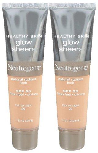 UPC 794168121232, Neutrogena Cosmetics Healthy Skin Glow Sheers - Fair to Light 20 - 2 Pack