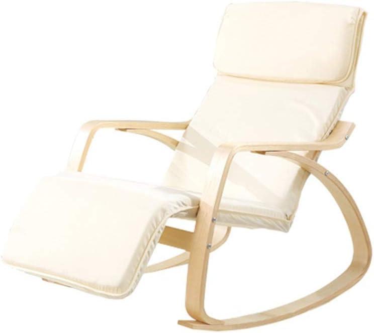 Lounge Chair Relaja la Silla Mecedora clásico Sillón Relax Silla con reposapiés y Suave del Amortiguador Relax Sót (Color : 1)