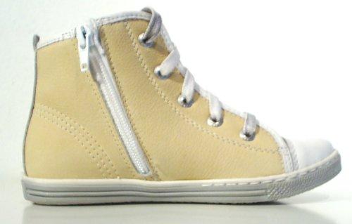FRODDO Leder Halbschuhe Sneaker Reißverschluss gelb