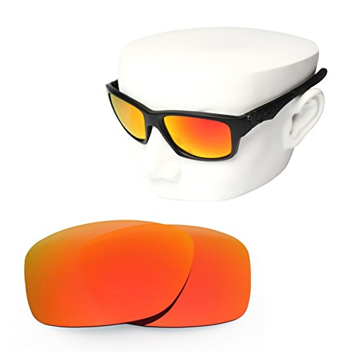 OOWLIT Replacement Sunglass Lenses for Oakley Jupiter Squared Fire Red Mirror - Squared Polarized Lenses Jupiter
