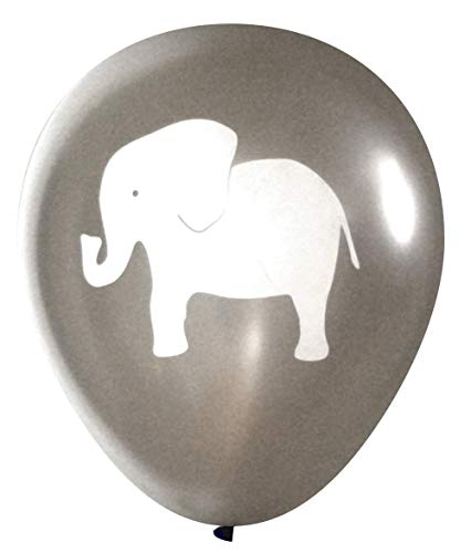 Elephant Balloons (16 pcs) by Nerdy Words (Grey)