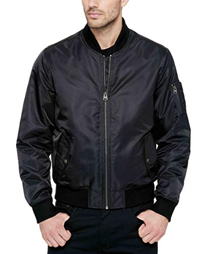 Levi's Men's Ma-1 Flight Jacket, Black, ()