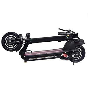 Scooter électrique 40-60km / h Trottinette électrique pliable à double entraînement de 10 pouces – Moteur sans balais de 1200 W avec pneus tout-terrain – Livraison en entrepôt allemand