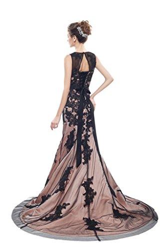 engerla Spitze Aufnäher Abendkleid Jewel Reißverschluss Damen Black Empire Champagne Mermaid qqOfRBrn