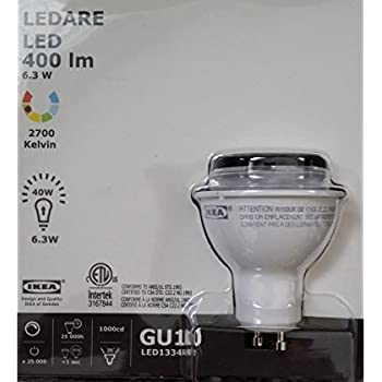 Ikea Ledare Gu10 Lightbulb 400 Lm 2700 Kelvin Dimmable