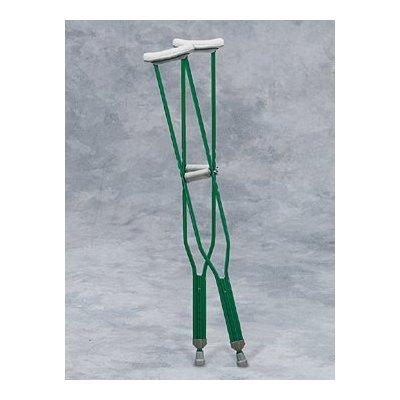 Underarm Crutches Tall Adult - 1 Pair - Epoxy-coated tall adult underarm (or axillary) crutches with foam pads and grips. Double push-button height adjustable to accommodate individuals from 5'10