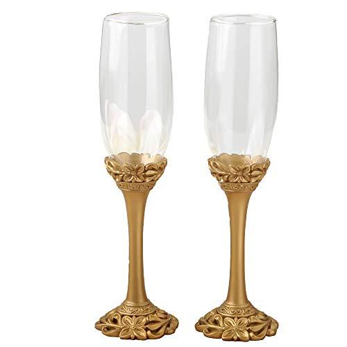 Fashion Craft 2527 Gold lattice botanical collection flute set One Size ()