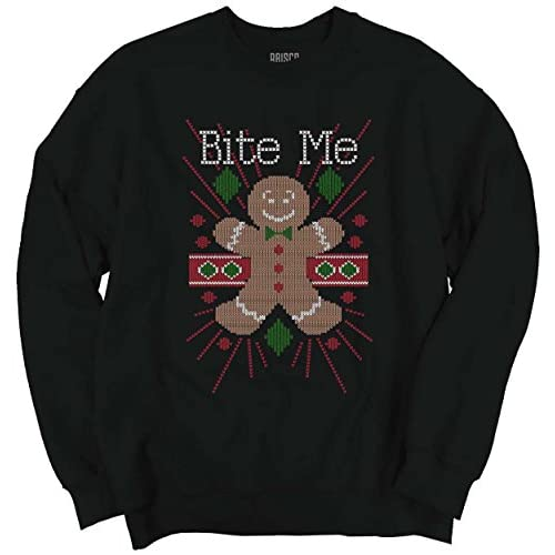Hot Classic Teaze Bite Me Gingerbread Man Cookie Funny Shirt | Cool Gift Idea Sweatshirt supplier