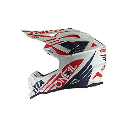 O'Neal 0200-423  2 Series Unisex-Adult Off-Road Helmet (White/Blue/Red
