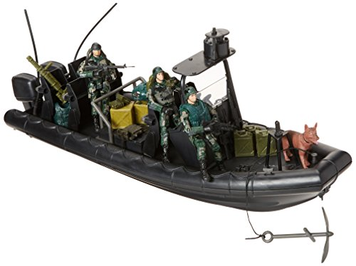 Click N' Play Military Special Operations Combat Dinghy Boat 26 Piece Play Set with Accessories. -