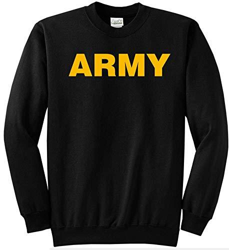 Logo Military Sweatshirt (Joe's USA - Gold Army Logo Crewneck - GoldArmy Sweatshirt, Size L)