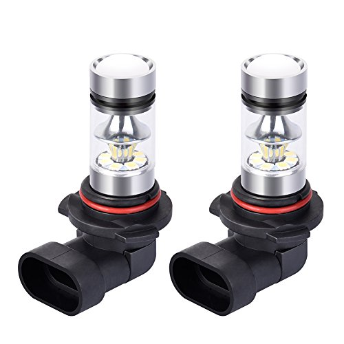 Catinbow LED Fog Light Bulbs 9006 (HB4) White 6000K High Power 100W Auto Fog Light Bulb Replacement 2323 SMD LED Bulbs for Fog light DRL 1800LM - 2 Pcs