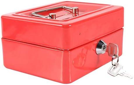 Nikou Caja de Efectivo - Caja de Dinero Segura con Cerradura 2 Llaves Mini Caja de Seguridad portátil para el hogar (Color : Red): Amazon.es: Hogar