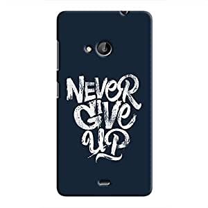 Cover It Up - Never Give Up Lumia 535 Hard Case