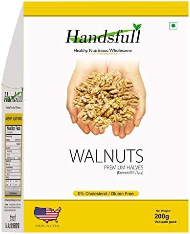 Handsfull California Premium Halves Walnuts Kernels 200 GMS