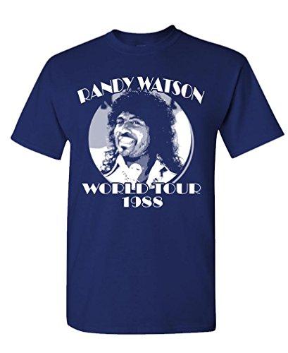 Randy Watson World Tour - Retro Movie Funny - Mens Cotton T-Shirt, M, Navy]()
