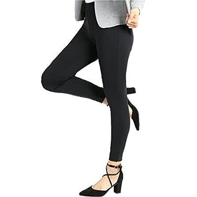 Bamans Yoga Dress Pants, High Waisted Black Workout Leggings For Women , Office Skinny Lined Leggings , Strechy