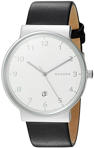 Skagen Men's SKW6291 Ancher Black Leather Watch
