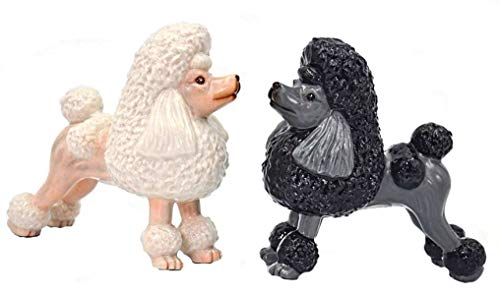 Cosmos Gifts Black and White Poodle Ceramic Salt and Pepper Shakers Dog Pet 20773