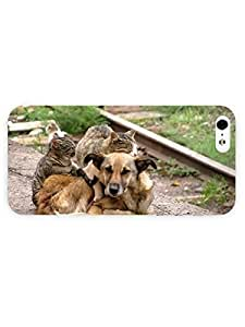 3d Full Wrap Case for iPhone 5/5s Animal Adorable Friendshi
