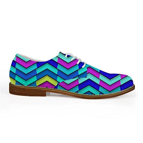 IDEA Up Wave Flags Flats HUGSIDEA Vintage Lace Oxford Mens Pattern HUGS Shoes Rqz1WwdR