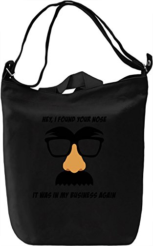 Found your nose Borsa Giornaliera Canvas Canvas Day Bag| 100% Premium Cotton Canvas| DTG Printing|