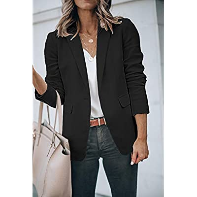 Cicy Bell Womens Casual Blazers Open Front Long Sleeve Work Office Jackets Blazer at Women's Clothing store