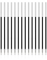 KINBOM 100 Stuks Vervangbare Balpenvullingen 0,7MM Medium Punt Voor Navulling Van Gelinkt Soepel Schrijven, Voor Intrekbare Balpen (Zwart)