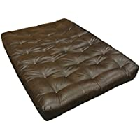 Gold Bond 0630L0-0150 10 ViscoTouch Futon Mattress, Leather, Queen, Brown