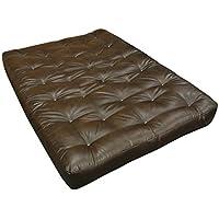 Gold Bond 0630L0-0150 10 ViscoTouch Futon Mattress, Leather, Queen, Brown