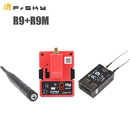 FrSky R9 with R9M Laliva Original FrSky Receiver R9 R9M R9mm R9+R9M Long Range Than L9R Receiver&Module System 900Mhz Working Mode RC Models Multicopter  (color  FrSky R9 with R9M)