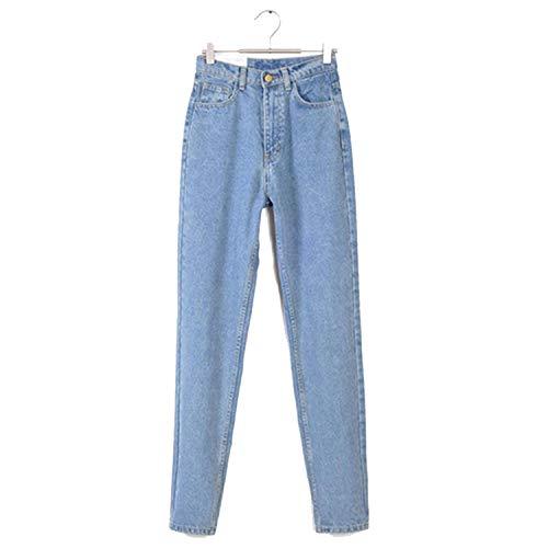 Vintage high Waist Jeans Woman Skinny Black Blue mom Boyfriend Jeans for Women Denim Pants,Light Blue,29