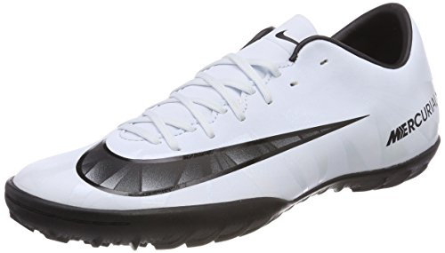 NIKE Men's MercurialX Victory VI CR7 TF Turf Soccer Cleat (Blue Tint, White)