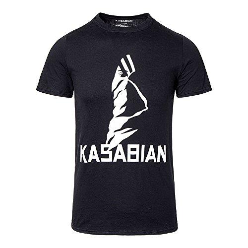 Kasabian T-shirts - Official Unisex-adults Kasabian Ultra Face Tour T Shirt (black) - Large