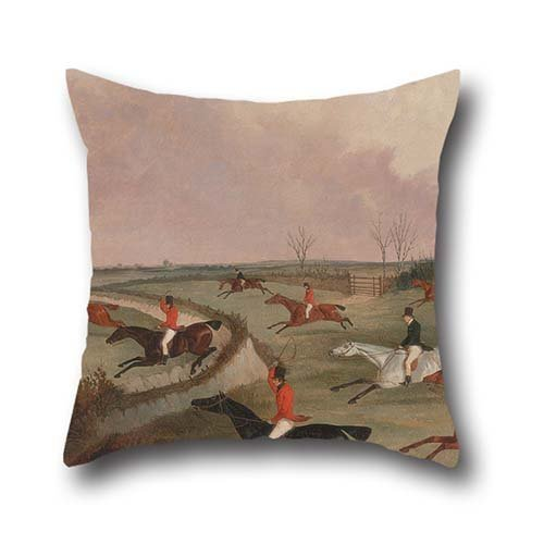 Oil Painting John Dalby - The Quorn Hunt In Full Cry- Second Horses, After Henry Alken Throw Pillow Covers 18 X 18 Inches / 45 By 45 Cm Best Choice For Boys,shop,deck Chair,home Office,office,lover W (Alken Horse)